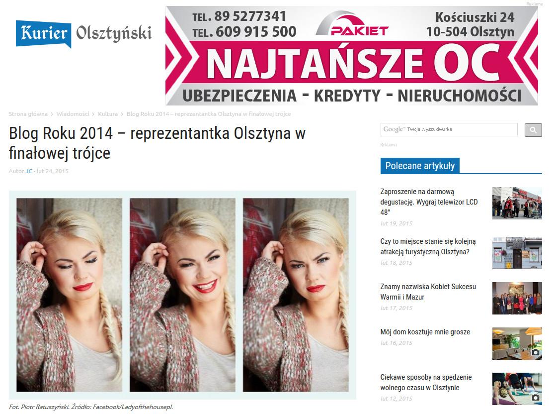 artykul w Kurierze Olsztynskim
