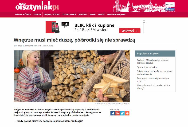 wywiad dla NaszOlszytniak.pl