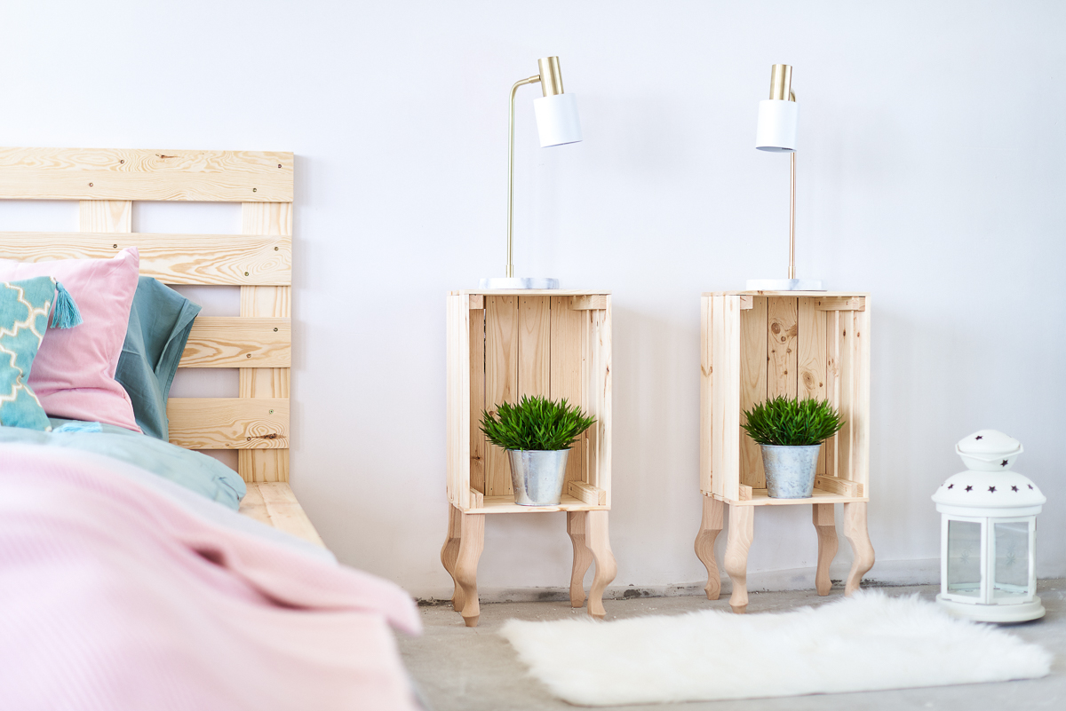 blog zrob to sam, DIY, jak zrobić łóżko, jak zrobić szafki nocne, jak zrobić zegar ...