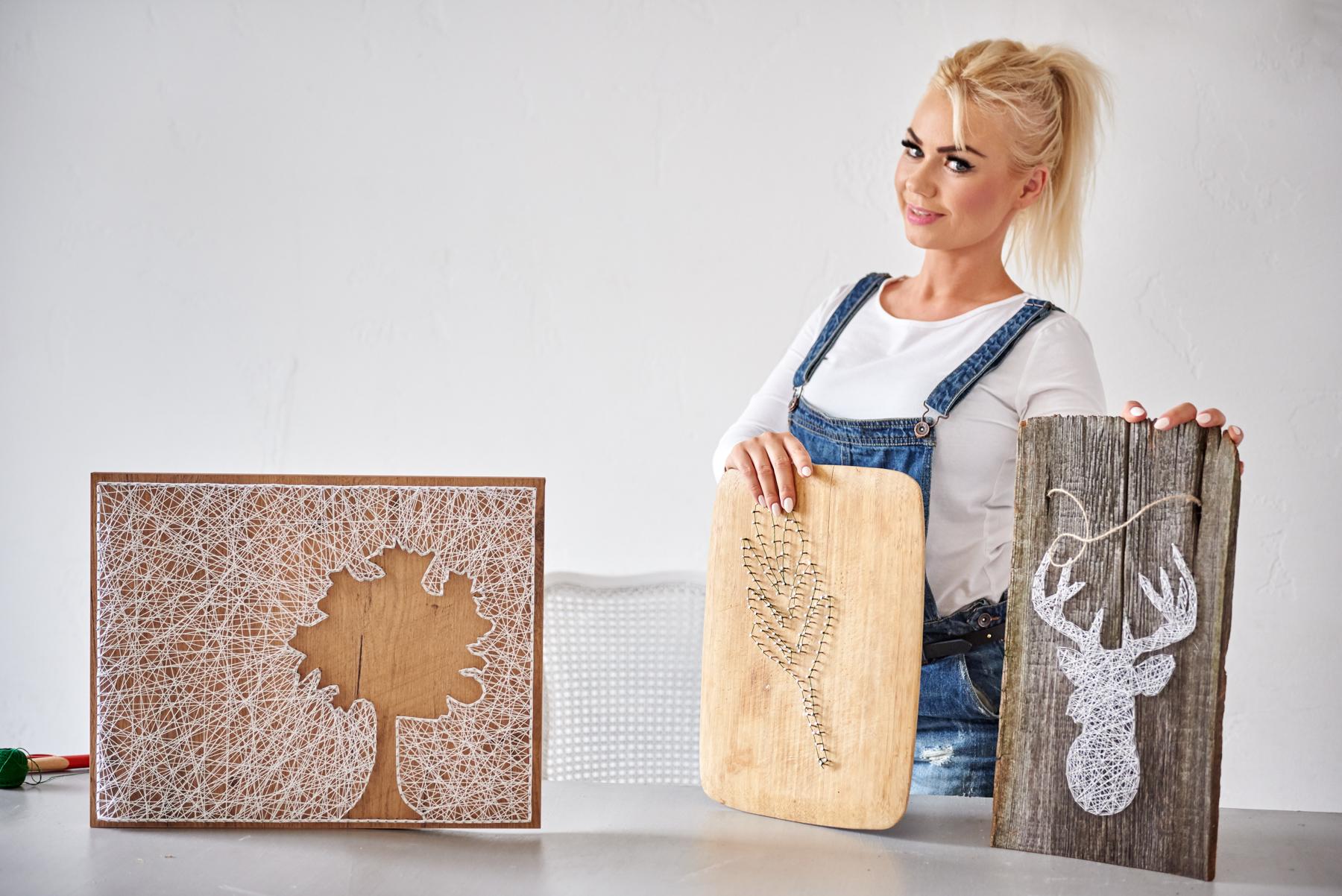 Fantastyczny string art, blog diy, jak zrobić, obraz z nici, pomysł na prezent UP79